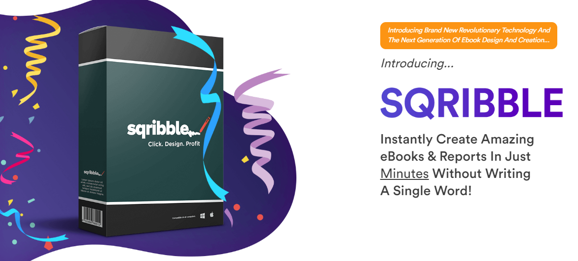 create an ebook in minutes with Sqribble